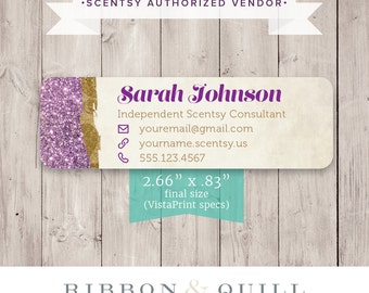 Authorized Scentsy Vendor • Scentsy Catalog Label Sticker - Glam Magic - PRINTED LABELS