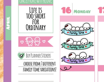 Munchkins - Family Time Planner Stickers (M07)