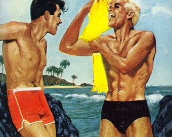 Gay pulp art print Mr. Queen —  vintage pulp paperback cover repro