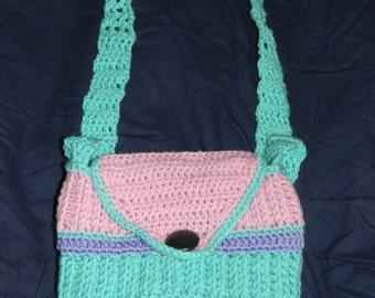 Handmade Crochet Bag Purse hand Knitted Small Shoulder Bag Girl messenger Bag Girls crossbody bag hand crocheted small bag