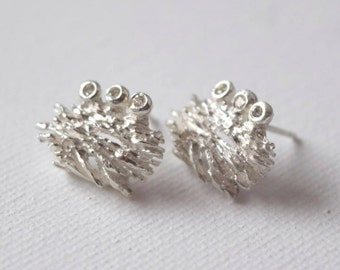 Diamond Earrings Inspired by Nature