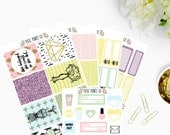 Glam Girl Planner Sticker Kit, for use with Erin Condren, Life Planner, Happy Planner, Mambi, Planner Stickers