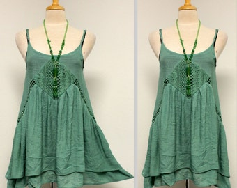 Designer and Exclusive Emerald Green Blouse with Detailed Chest Stitching, Boho Top, high fashion,  Top Blouse, Sizes S, M, L