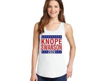Knope Swanson 2020 campaign tank top tee ladies sleeveless Parks and Recreation Ludgate Pawnee rat li'l sebastian Leslie Mouse Dwyer Rec