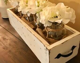 Mason Jar flower box farmhouse decor farmhouse style