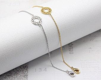 Dreamer Bracelet - Thin Dainty Silver Chain Bracelet - Everyday Layering Bracelet - Lucky Charm Bracelet - Delicate Gold Bracelet