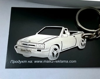 Opel Corsa Spider Irmscher 1986 Key Chain, Opel Corsa keychain, Opel Corsa, Stainless Steel Keyring, personalised keyring, fathers day gift