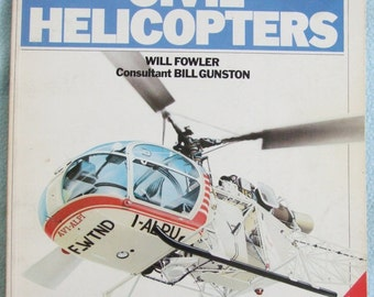 Vintage 1980 Illustrated International Aircraft Guide - CIVIL HELICOPTERS - Book