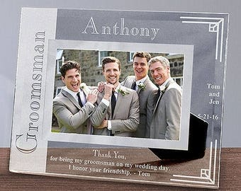 Engraved Wedding Party Photo Frame - Groomsmen Gifts - Groom Frame - Best Man Frame - Wedding Party Frame - Personalized Wedding Party Gifts