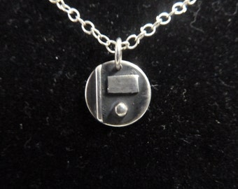 Small silver necklace