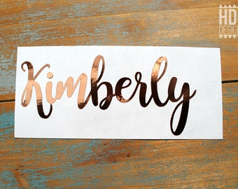 Name Decal - Rose Gold Decal - Rose Gold Name Decal - Rose Gold Monogram decal - Yeti decal - RTIC decal - Gold Foil decal - Wedding decal