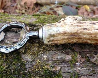 Bottle Opener; Deer Antler Bottle Opener; Rustic Bottle Opener; Beer Bottle Opener, Groomsman Gift, Hostess Gift; Little Man Cave