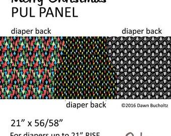 Christmas Cloth Diaper OS Envelope Pocket