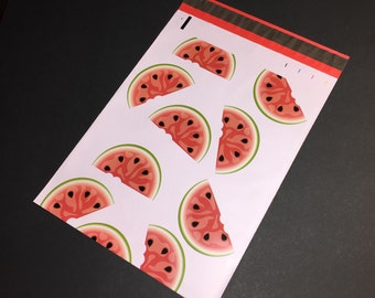 100 Designer WATERMELON Poly Mailers 10x13 Envelopes Shipping Bags