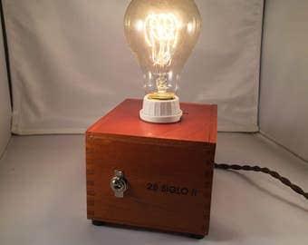Repurposed Cigar Box Lamp