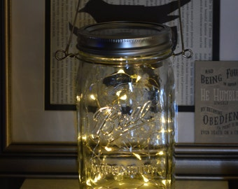 NEW Large Mason Jar Lanterns (7 inch quart)