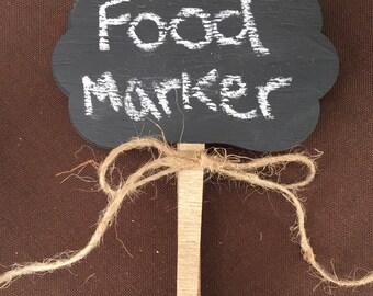Chalkboard Sign, Chalkboard Tags, Food Markers, Herb Markers, Herb Stakes  Chalkboard,