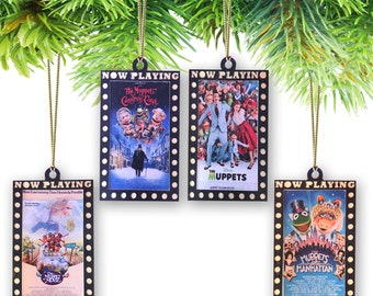 Set of (4) Movie Marquee Poster Ornament Set-Muppets (Pick & Choose from all 8  movie posters)