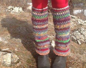Ring around the Rosie Legwarmers handcrafted crochet Leggins
