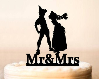 peter pan and wendy wedding cake topper wedding cake pulls etsy 18306