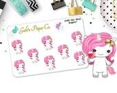 Unicorn Sippin Mini Planner Stickers {2186P Uni Photo Mini }