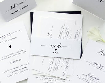 SPECIAL OFFER 22 Complete Wedding Package Discount Watercolour Kits Invitation Discounted