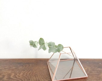 Geometric glass terrarium - Handmade - Glass Planter  - Home Decor - Wedding table decor - Christmas decoration