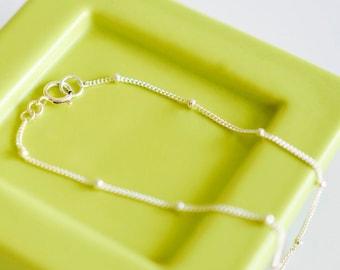 Best Layering Bracelet/ Tiny Bead Chain Bracelet/ Satellite Chain Bracelet / Dainty Chain Bracelet / Dew Drop Bracelet