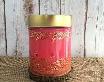 Pink Mandala  24oz. Soy Candle - Zen-Berry