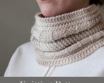 knitting pattern, knit cowl pattern, knit pattern, cowl pattern, knit cowl pattern, brioche cowl, instant download pdf DIY instructions