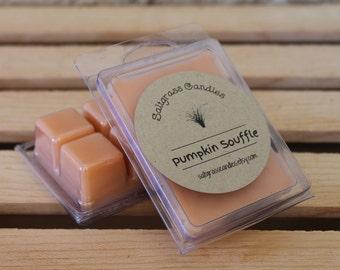 Pumpkin Souffle'  Wax Melts - Soy Blend Wax - Wax Cubes - Wax Tarts - Hand Poured - Gift Idea