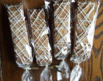 Gluten Free Almond Biscotti, Set of 12, Bridal Shower Favor, Wedding Reception Favor, Shower Gift, Optional Ribbon
