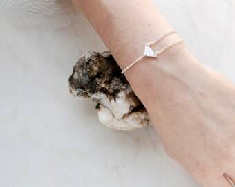 Silver Chain Bracelet, Silver Triangle Bracelet, Geometric Silver Bracelet, Minimal Silver Bracelet, Dainty Silver Bracelet, Charm Bracelet