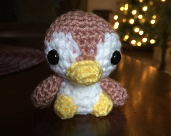 Pink Penguin, Little Penguin, Amigurumi Penguin, Crochet Penguin, Penguin Stuffed Animal, Handmade Plush, Penguin Plush