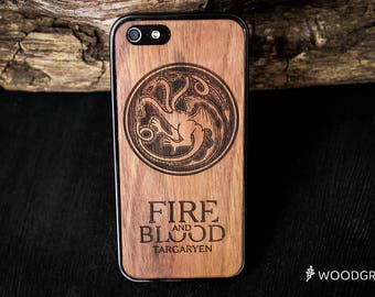 Game of Thrones House Targaryen Grayjoy Lannister Stark wooden iphone 7 case wood iphone 6 case iphone 5 case wooden iphone 6 case wood