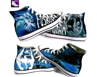 Skyrim Painted Canvas Converse