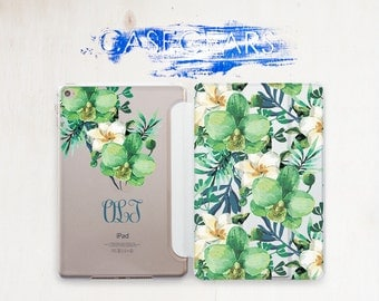 Floral Case Personalized Case Monogram iPad Flower Monogram cover ipad 3 ipad pro case 12.9 case ipad air 2 iPad Mini 4 case CGSC015