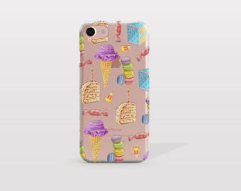 iPhone 7 Plus Case Icecream, iPhone 7 Case, iPhone 6 Case, iPhone 6S Case, i7 Cases, i6 Cases, iPhone SE Case, Tech Gift For Her - KT254