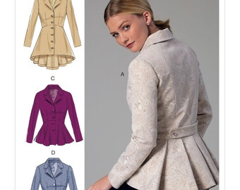 Sewing Pattern for Misses' Notch-Collar, Peplum Jackets, McCall's Pattern 7513,NEW PATTERN, Fitted Jacket Pattern