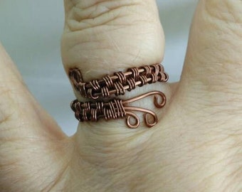 Beautiful Copper Wire Weaved Rings