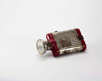Vintage NARVA tin flashlight, German flashlight, DDR flashlight, Vintage decoration.
