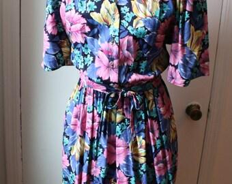 Floral Fit & Flare Dress