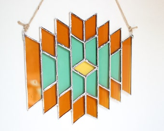 Southwest Stained Glass Suncatcher