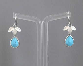 Jane silver and turquoise earrings