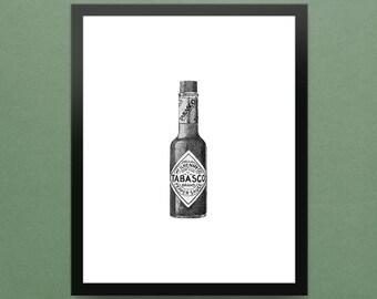 "Tabasco Hot Sauce - 8x10"" Limited Edition Fine Art Digital Giclee Print"