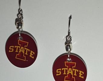 Iowa State Cyclones earrings, Iowa State Cyclones jewelry, Iowa State, school spirit jewelry
