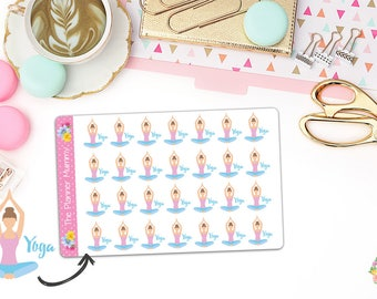28 x Yoga Exercise Meditation Reminder Stickers Planner Diary Calendar Kikki K
