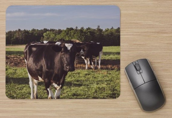 Cow Mouse Pad - Farm Mousepads - Cows Computer Mat - Office Accessories - Office Decor - Desk Accessories - Office Gifts