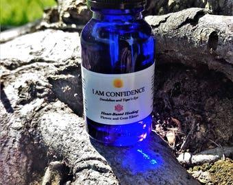 I Am Confidence Flower Essence and Crystal Elixir
