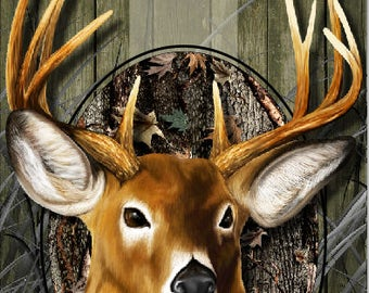 Buck Deer Hunter Camo Cornhole Wrap Bag Toss Decal Baggo Skin Sticker Wraps